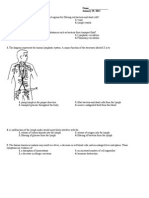 lymphatic system regents
