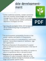 Sustaintable Development Environment & Economic