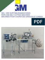 Machines Pour Couper Des Sangles Et Cordes Hsgm g2s