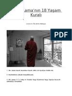 Dalai Lama'nın 18 yaşam kuralı