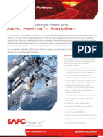 SAFC Pharma - Jerusalem - Fermentation Derived High-Potent APIs