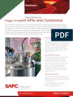 SAFC Pharma - High-Potent APIs and Cytotoxics