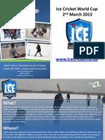 Ice cricket - 2013