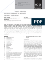 Influence of metal chloride salts on calcium aluinate cement hydration