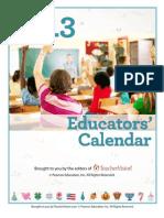 2013 Educator's Calendar