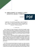 EL «IMPEACHMENT» EN AMERICA LATINA. Mario Serrafero