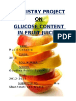 Chemistry project on glucose content in fruit juices