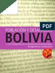 Población y Desarrollo Bolivia. Manigeh Rossta (Coordinadora)