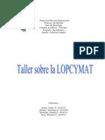 Taller de La Lopcymat