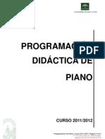 Programacin Didctica de Piano 2011-2012