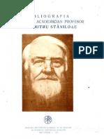 Bibliografia Pr. D. Staniloae