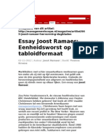 Lookalikes In Tabloid Format – The Inexorable Decline Of Dutch Quality Newspapers