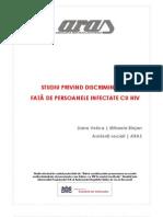 Discriminarea perceputa de persoanele cu Hiv 2005 studiu aras