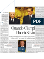 Quando Ciampi bloccò Silvio