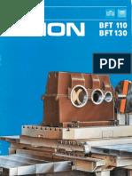 Union BFT 110 CNC Union BFT 130 CNC