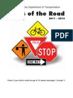 North Dakota - Rules of the Road - Drivers Manual 2013