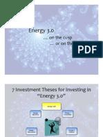 Alternative Energy Investing Thesis