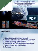 Perkembangan Teknologi GeoInformasi