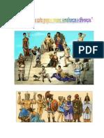 A Mitologia e o Culto Grego e Romano semelhanças e diferenças  História 7º ano