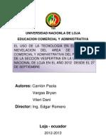 Universidad Nacionla de Loja