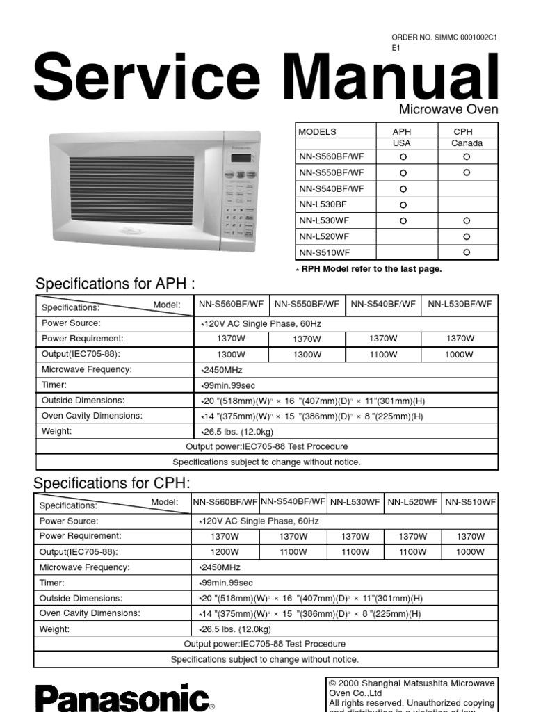 panasonic inverter microwave power supply power inverter rh es scribd com panasonic microwave service manual pdf panasonic commercial microwave service manual