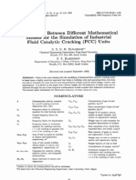 Comparison Between Different Mathematical Models for the Simulation of Industrial Fluid Catalytic Cracking