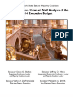Senate Finance Committee Analysis of Governor's Budget