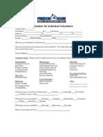 Freedom House Volunteer Application