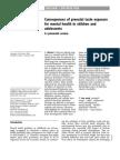Consequences of Prenatal Toxin Exposure_2007