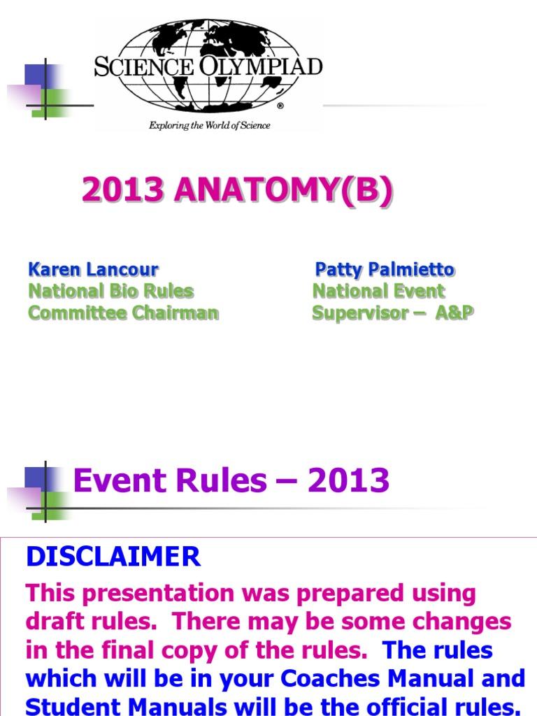Science Olympiad Anatanmy 2013div B Digestion Human Digestive