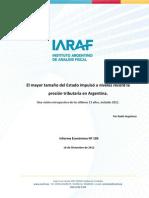 IARAF carga tributaria
