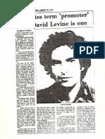 David Levine Hates Term Promoter