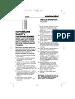 User Guide Honeywell Purifier 60000