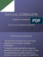 2.Definirea CONSILIERII
