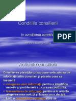 4..Conditiile consilierii