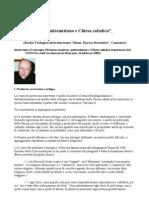 Antigiudaismo, Antisemitismo e Chiesa Cattolica P Cantoni