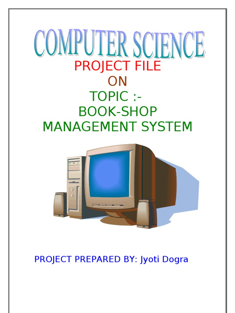 computer shop management system project pdf
