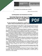 BOLETÍN DE PRENSA N° 07-2013