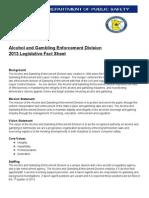 Alcohol and Gambling Enforcement Fact Sheet