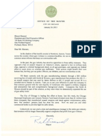 Rahm Emanuel letter to TD Bank and Bank of America