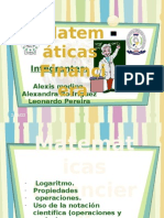 EXPOSICION DE MATEMÁTICAS