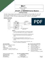 Aiphone Model BA-1 Instr- Westside Wholesale - Call 1-877-998-9378