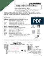 Aiphone Model C-123LW Supplement Instr 0610- Westside Wholesale - Call 1-877-998-9378