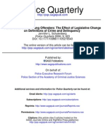 Police Culture and Youth Offenders the Effect of Legislative Change on Definitions of Crime and Delinquency
