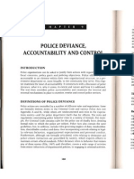 Police Deviance Accountability and Control
