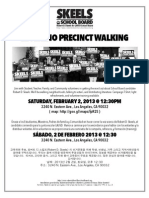 El Sereno Precinct Walking-Robert D. Skeels for LAUSD School Board