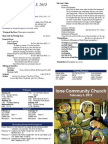 ICC Worship Bulletin 2/3/13