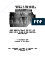Lt. Henry B. Dillard, 33rd Alabama Infantry Civil War service file