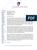 Letter From LULAC to President Obama