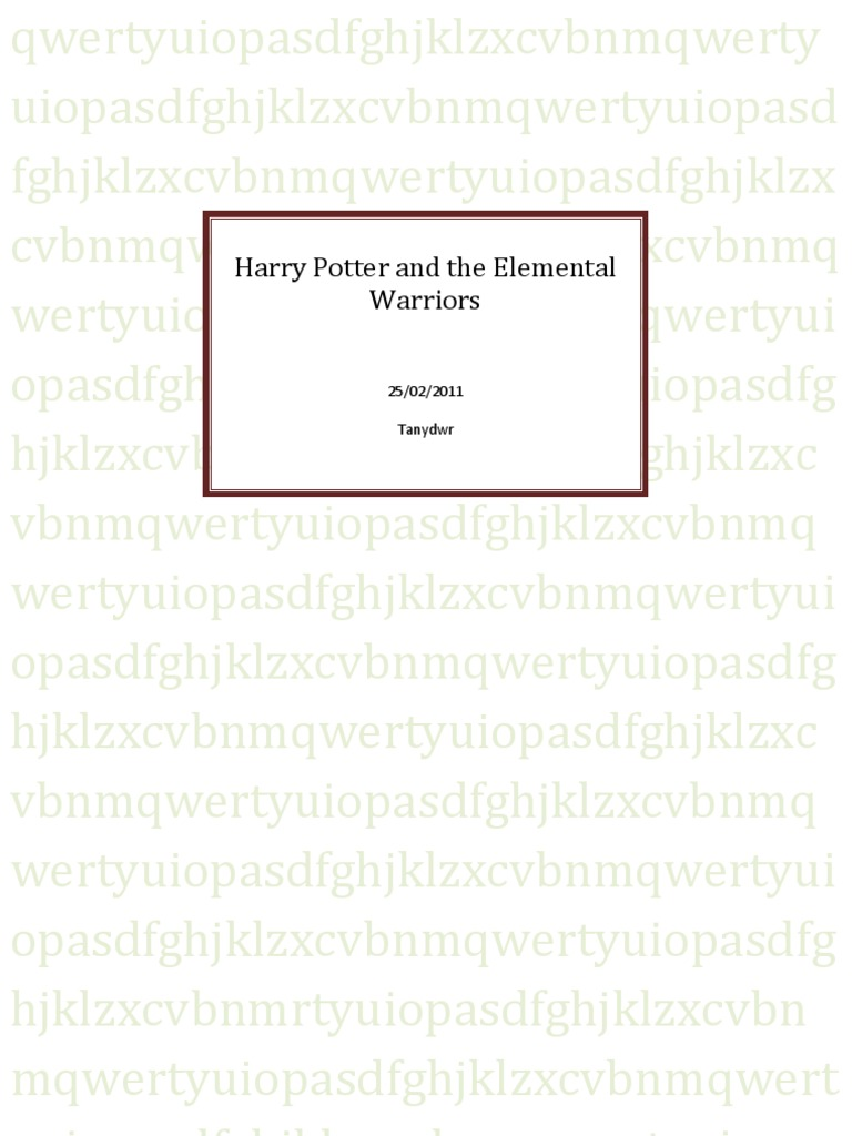 Harry Potter and the Elemental Warriors pdf | Fantasy Tropes